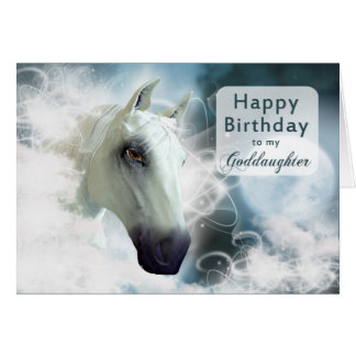 Goddaughter birthday, Arabian Horse Card