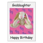 Goddaughter birthday bunny rabbit card