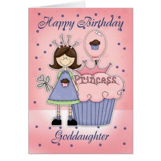 Goddaughter Birthday Card - Cupcake Princess