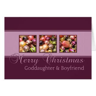Goddaughter & Boyfriend Merry Christmas card