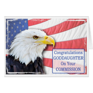 Goddaughter,commissioning with a bald eagle card