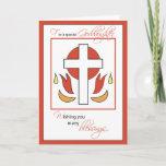 Goddaughter Confirmation Congratulations Cross Fir Card