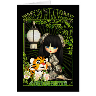 Goddaughter Cute Birthday Card With Moonies China