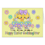 Goddaughter Cute Easter Chicks In A Basket Card