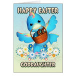 Goddaughter Easter Card - Cute Duck With Basket Of