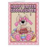 Goddaughter Easter Card - Easter Bunny & Easter Eg