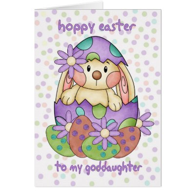 Happy easter goddaughter card zazzle negle Choice Image