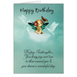 Goddaughter Fairy Birthday Card With Doves