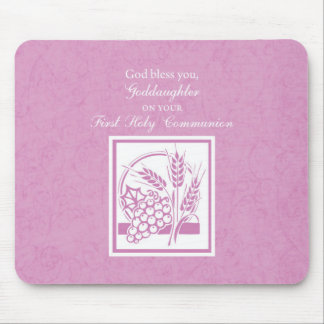Goddaughter First Communion, Pink Mouse Pad