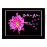 GODDAUGHTER Flower Girl Invitation Hearts Greeting Card