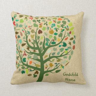 Goddaughter Godson Godchild Gift Tree of Life Throw Pillow