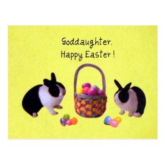 Goddaughter Happy Easter Postcards