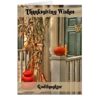 Goddaughter Happy Thanksgiving Card