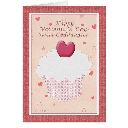 Goddaughter Happy Valentine's Day - Cupcake Card