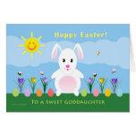 Goddaughter Hoppy Easter - Easter Bunny Cards
