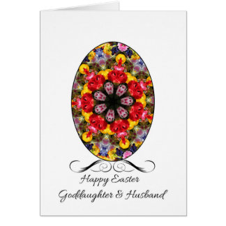 Goddaughter & Husband Happy Easter Card