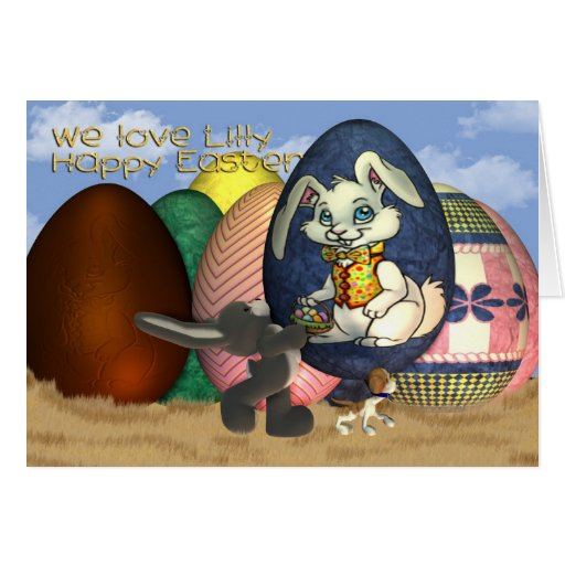 Goddaughter Lilly Happy Easter Greeting Card