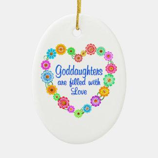 Goddaughter Love Ceramic Ornament