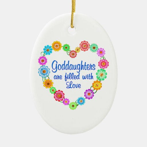goddaughter love ceramic ornament zazzle. Black Bedroom Furniture Sets. Home Design Ideas