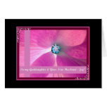 GODDAUGHTER & New Husband Wedding Congratulations Greeting Card