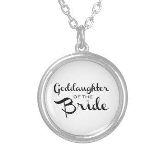 Goddaughter of Bride Necklace Black On White