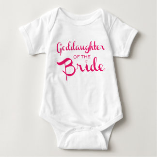 Goddaughter of Bride Tee Pink