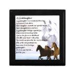 Goddaughter Poem - Horses Design Gift Box