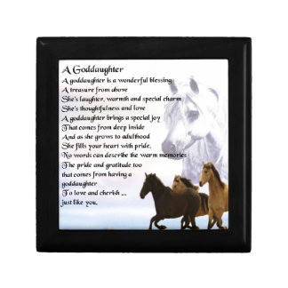 Goddaughter Poem - Horses Design Keepsake Box