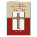 Goddaughter, RCIA Blessings on Profession of Faith Greeting Card