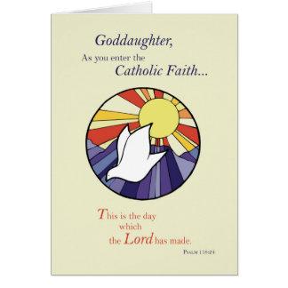 Goddaughter RCIA Catholic Dove Sun Circle, Rite of Card