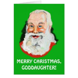 Goddaughter Santa Claus Christmas Card