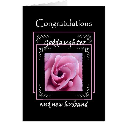 GODDAUGHTER Wedding Congratulations - Pink Rose Card