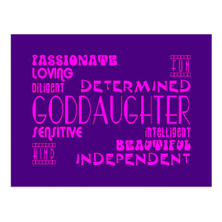 Goddaughters Baptims Christening Parties Qualities Post Cards