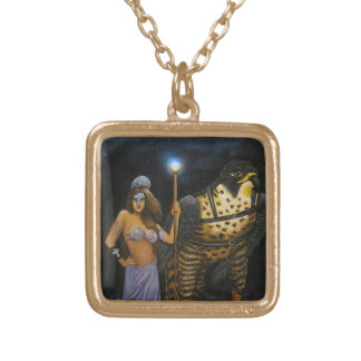 Goddess Acrylic Painting Necklace