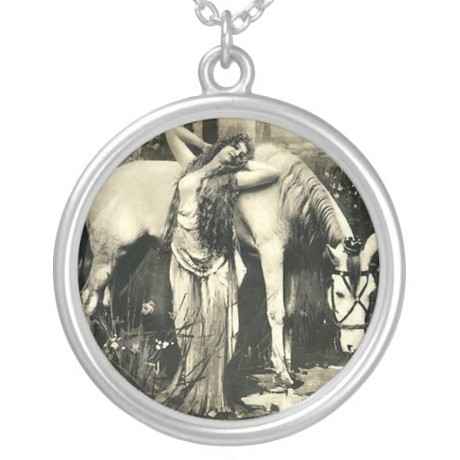 Goddess and Horse Vintage Necklace