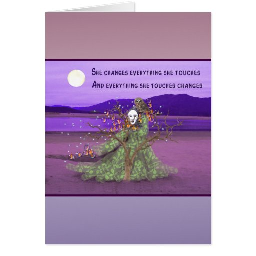 Goddess And Moon Card