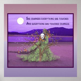 Goddess And Moon Poster