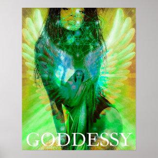 Goddess Archangel Metatron Centerfold Model Poster