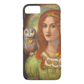 Goddess Athena and Owl iPhone 7 Case