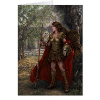 Goddess Athena Card by artist Lindsay Archer