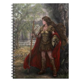 Goddess Athena Notebook by artist Lindsay Archer