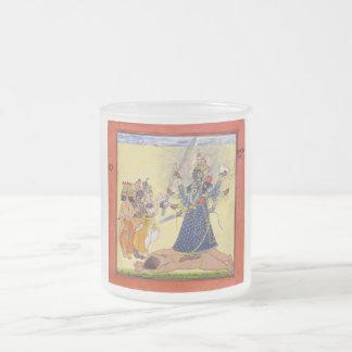 Goddess Bhadrakali Worshipped by the Gods 1675 Frosted Glass Coffee Mug