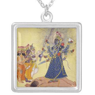 Goddess Bhadrakali Worshipped by the Gods 1675 Custom Necklace