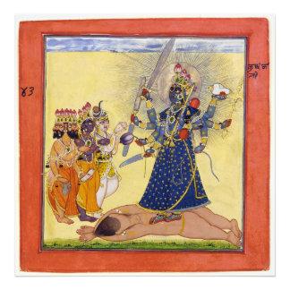 Goddess Bhadrakali Worshipped by the Gods 1675 Art Photo