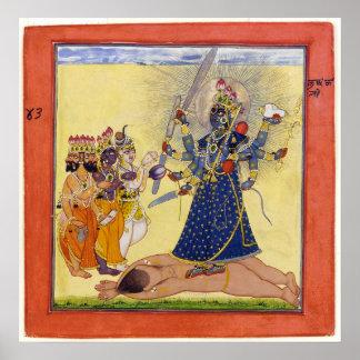 Goddess Bhadrakali Worshipped by the Gods 1675 Poster