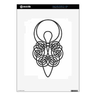 Goddess Black on White Decal For iPad 2