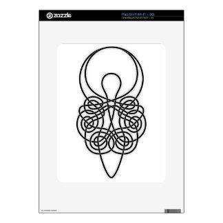 Goddess Black on White Skins For The iPad