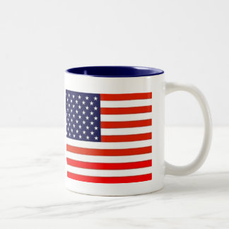 GODDESS BLESS AMERICA (Coffee Mug) Two-Tone Coffee Mug