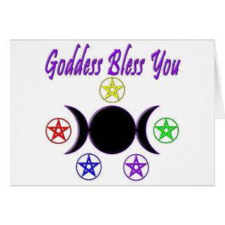 Goddess Bless You Card