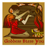 Goddess Bless You Posters